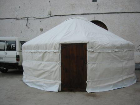 Coverings are usually canvas though some yurt builders are using felt as a middle layer. & Yurt FAQ | Yurts