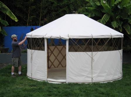 GoYurt Shelters' lightweight portable yurt