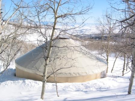 Cold Climate Architecture on wood panel yurts