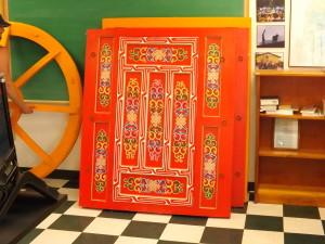 ornate yurt door