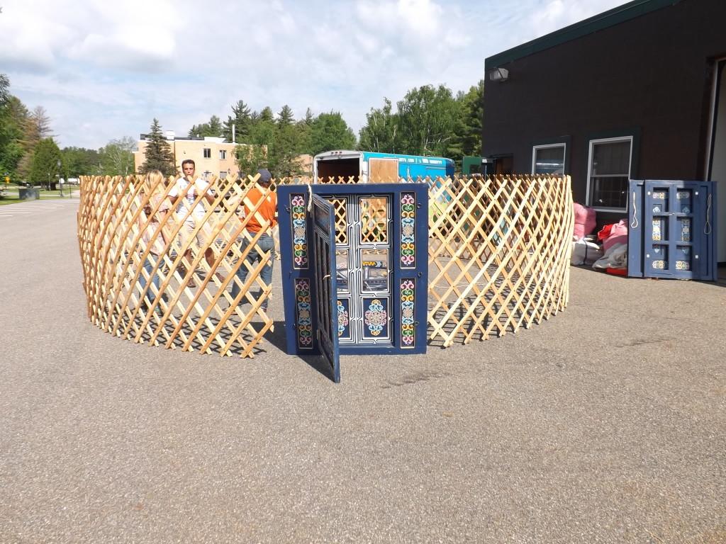 yurt door & lattice