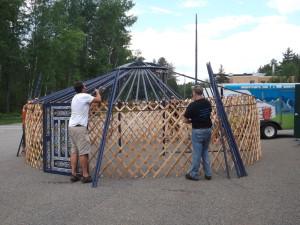 yurt tear down